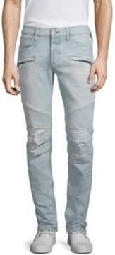 Hudson Blinder Biker Skinny Distressed Jeans