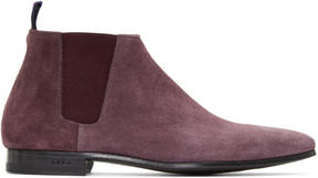 Paul Smith Burgundy Suede Marlowe Chelsea Boots