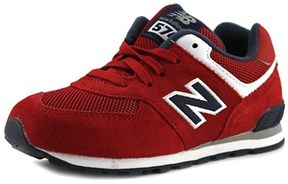 New Balance Kl574 Toddler Round Toe Suede Red Walking Shoe.