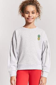 Forever 21 Girls Pineapple Graphic Sweatshirt (Kids)