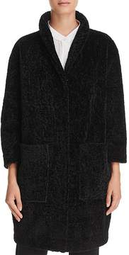 Donna Karan Curly Faux Fur Cocoon Coat