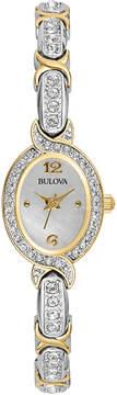 Bulova Womens Crystal Accent Bracelet Watch 98L005