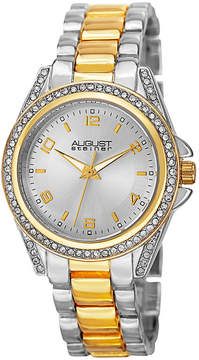 August Steiner Womens Two Tone Strap Watch-As-8149ttg