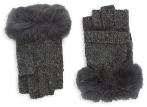 Adrienne Landau Fingerless Rex Rabbit Gloves
