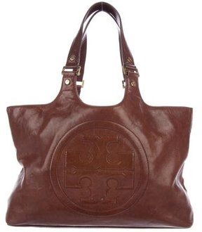 Tory Burch Bombe Leather Tote - BROWN - STYLE