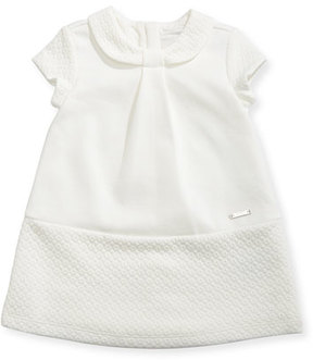 Mayoral A-Line Knit Dress w/ Quilted Trim, Size 6-36 Months