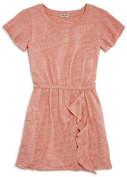 Splendid Girls' Melange Ruffled Shirt Dress - Big Kid