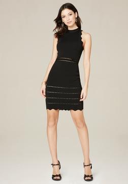 Bebe Elissa Scallop Edge Dress
