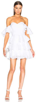 Caroline Constas Irene Ruffle Mini Dress