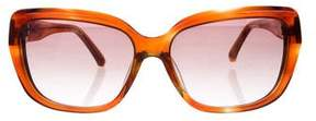Oscar de la Renta Gradient Tortoiseshell Sunglasses