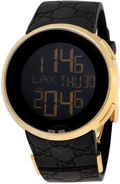 Gucci I Yellow Gold-Tone Black Rubber Men's Watch