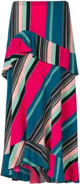 Etro striped A-line skirt