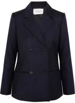 Frame Double-breasted Wool Blazer - Navy