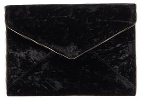 Rebecca Minkoff Leo Velvet Envelope Clutch - Black - BLACK - STYLE
