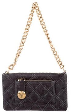 Marc Jacobs Quilted Bev Clutch - BLACK - STYLE