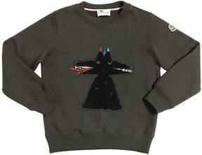 Moncler Wolves Patch Cotton Sweatshirt