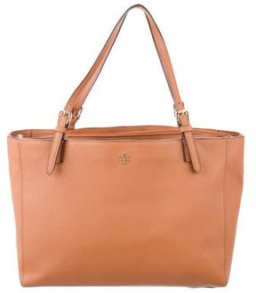 Tory Burch York Leather Tote - BROWN - STYLE