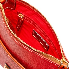 Dooney & Bourke Pebble Grain Ginger Pouchette Shoulder Bag - TERRACOTTA - STYLE