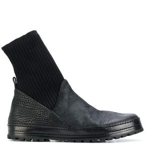 Marsèll knitted cuff grained boots