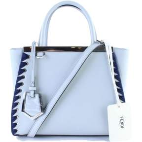 Fendi 2Jours Blue Leather Handbag