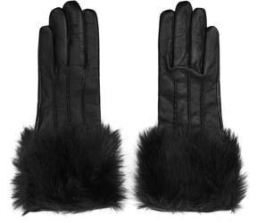 Reiss Robyn Faux-Fur Detail Gloves