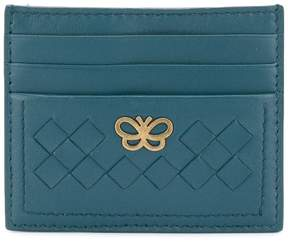 Bottega Veneta logo plaque card case