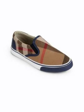 Burberry Toddler's & Kid's Check Slip-On Sneakers