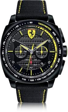 Ferrari Aero Evo Chronograph Black and Yellow Stainless Steel Case and Nylon Strap Men's Watch