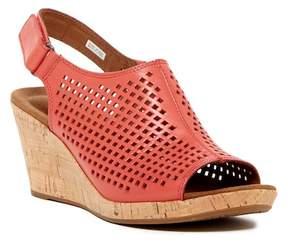 Rockport Briah Perforated Slingback Wedge Sandal
