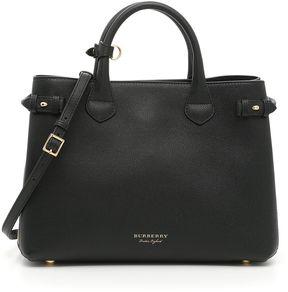Burberry Medium Banner Bag - BLACK|BEIGE - STYLE