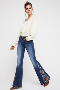 Driftwood Farrah Embroidered Flare by at Free People