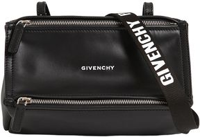 Mini Pandora Strap Logo Leather Bag
