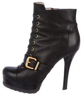Fendi Leather Platform Boots