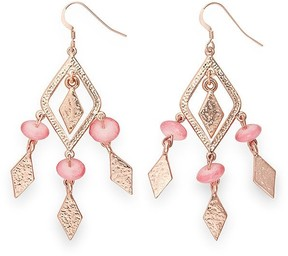 Alex and Ani Coral Spearhead Earrings