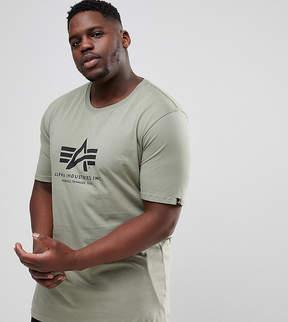 Alpha Industries PLUS Logo T-Shirt Regular Fit in Olive