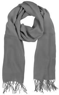 Mila Schon Women's Grey Wool Scarf.