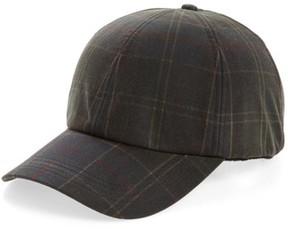 Barbour Men's Tartan Baseball Cap - Green
