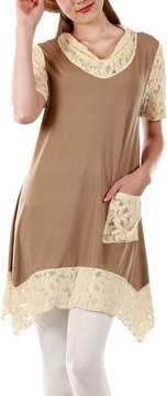 Lily Beige & Cream Handkerchief Tunic - Women