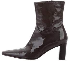 Aquatalia Patent Leather Ankle Boots