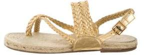 Hermes Braided Leather Sandals