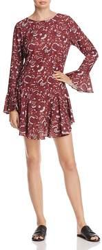 Aqua Floral Print Drop-Waist Dress - 100% Exclusive