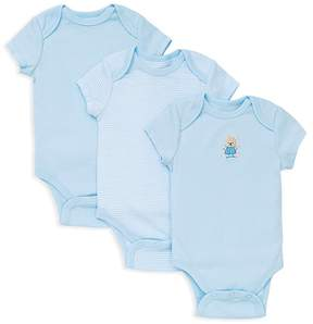 Little Me Boys' Bear Bodysuit, 3 Pack - Baby