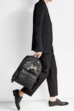 Dolce & Gabbana Printed Backpack with Patches - ANIMAL PRINT - STYLE