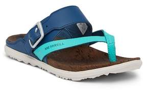 Merrell Around Town Thong Buckle Print Sandal