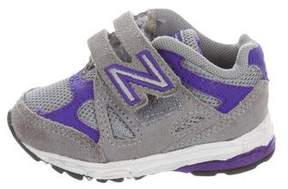 New Balance Girls' Hook and Loop Low-Top Sneakers