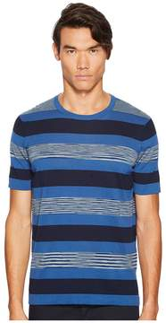 Missoni Fiammato Rigato Short Sleeve Knit Men's Sweater