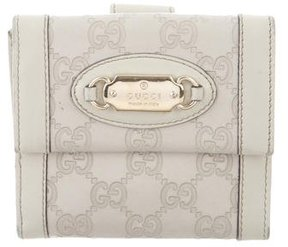 Gucci Guccissima French Flap Wallet - NEUTRALS - STYLE