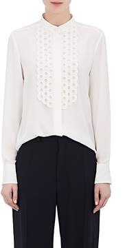Chloé Women's Silk Crêpe De Chine Scalloped Blouse