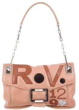 Roger Vivier Metro Multicolor Logo Appliqué Shoulder Bag