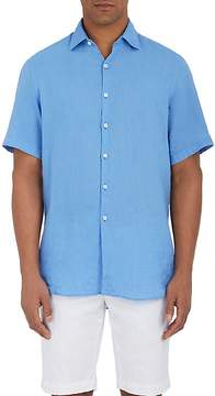Piattelli Men's Linen Button-Front Shirt